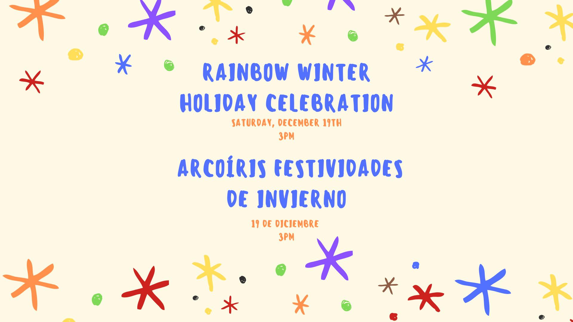 Rainbow Winter Holiday Celebration