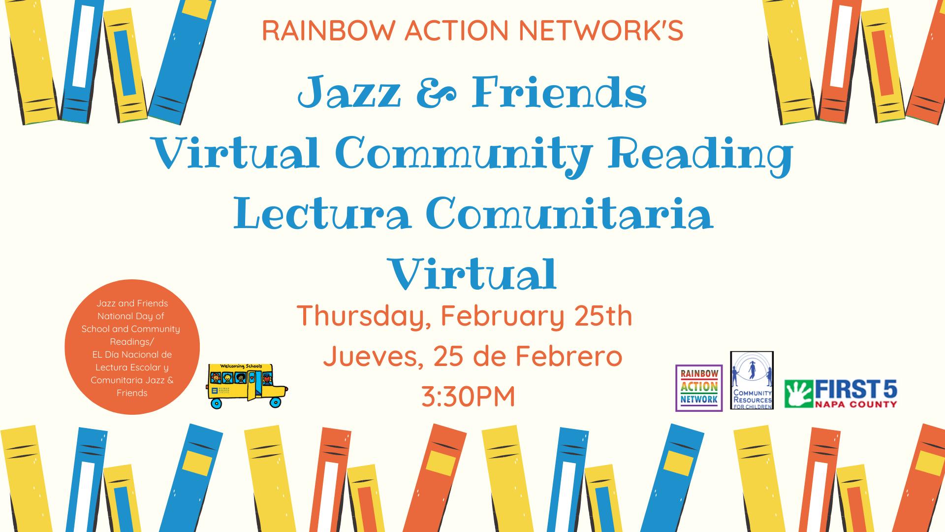 2nd Annual RAN Jazz & Friends Community Reading